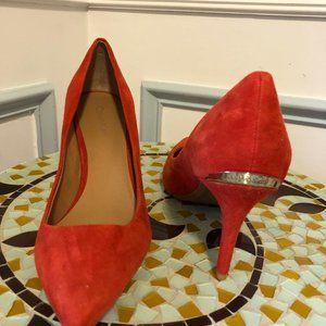 Calvin Klein Womens Suede Pointed Toe Heel